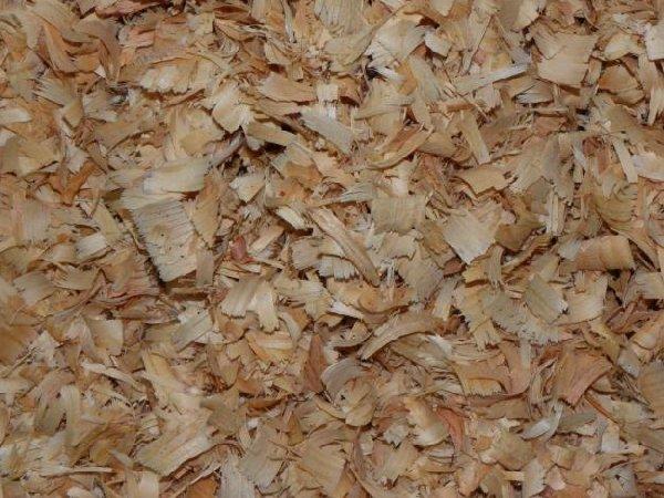 Cama de viruta de madera seleccionada