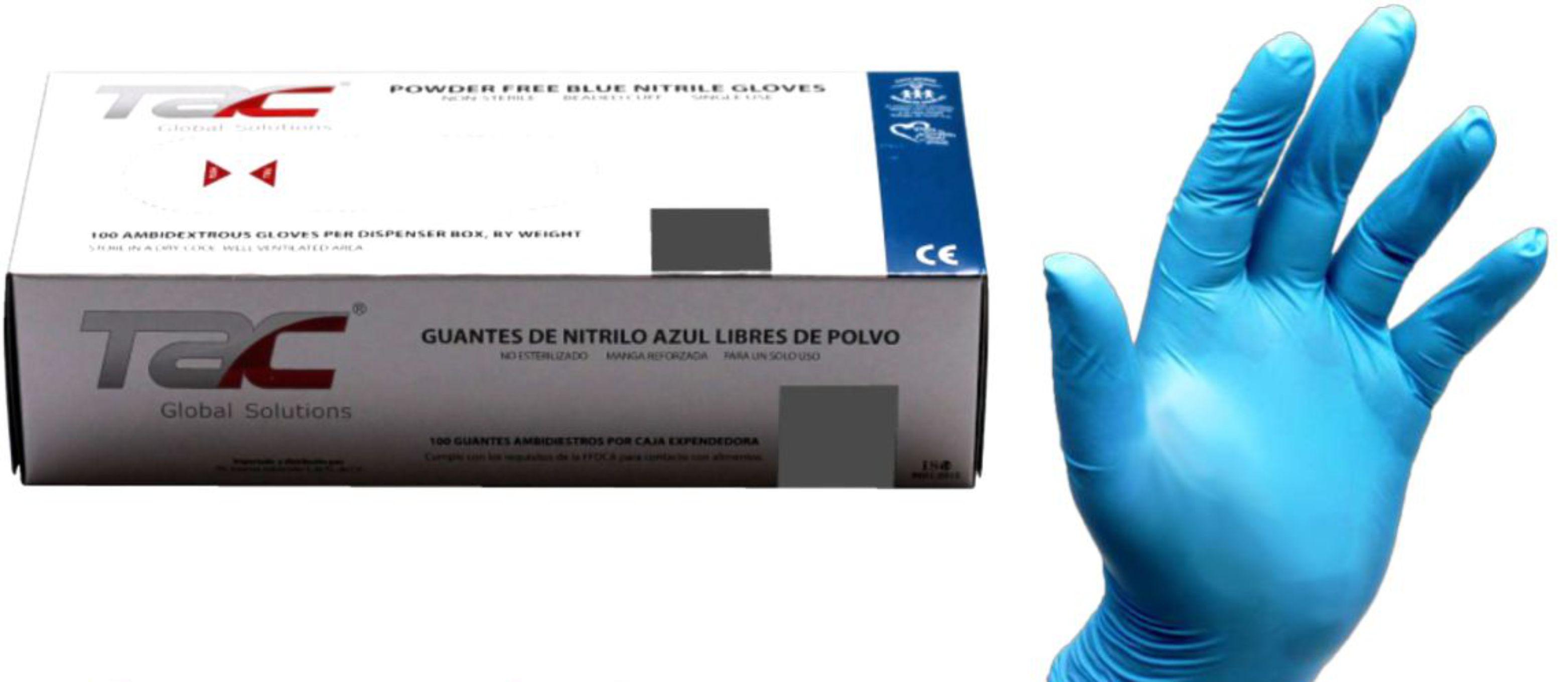 Guantes de nitrilo talla M
